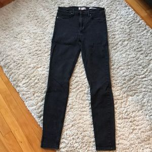 Guess Jeans - Guess 1981 power skinny high waist black jeans